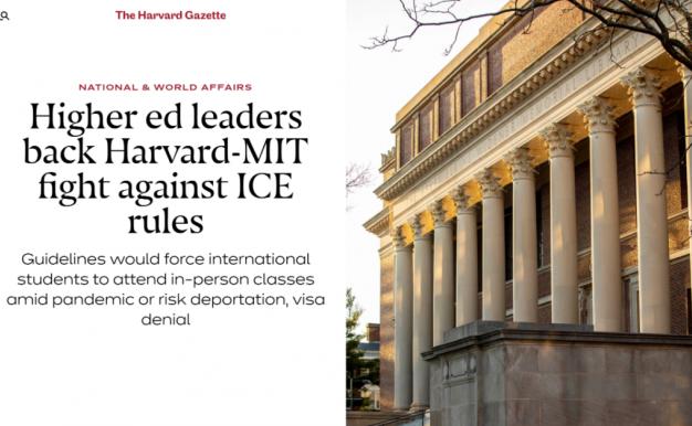 喜大普奔!哈佛MIT撤诉,ICE妥协,秋季不用「顶毒」上课了!